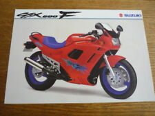 SUZUKI GSX 600F MOTORBIKE BROCHURE, 1994, POST FREE (UK)