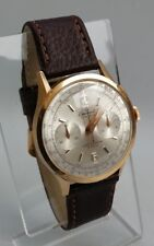 Vintage 1940s Gents Oversized 18K ct Solid Gold Eminent Chronograph Stop Watch