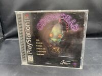 PLAYSTATION 1 PS1 ODDWORLD BLACK LABEL COMPLETE GAME