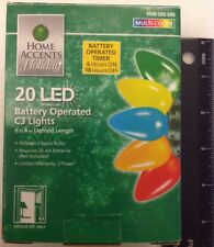 Home Accents Holiday - 20 LED Battery Operated C3 Lights | Multi-Color | 6ft 4in