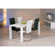 Küchenstuhl Esszimmerstuhl Esszimmer Freischwinger Stuhl schwarz chrom Küche