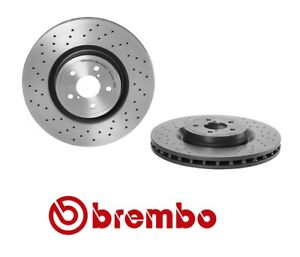 Brembo Xtra Front Brake Disc Rotor Drilled Coat for Subaru Impreza 2004 WRX STI