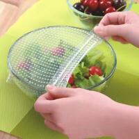 4er  wiederverwendbare Silikon Wraps Cover Stretch und Frischhaltedose Küche