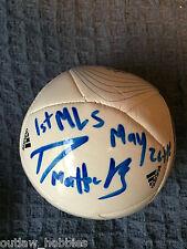 Vancouver Whitecaps Darren Mattocks Autographed MLS Mini Soccer Ball COA