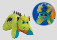 Flipazoo FLIP N PLAY blue troll green dragon pillow pal toy NEW stuffed plush