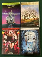 Tim Burton Dvd lot - Beetlejuice, Corpse Bride, Big Fish, Chocolate Factory