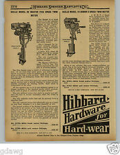 1929 PAPER AD Caille Model 20 10 5 Five Speed Twin Outboard Motor