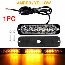 Waterproof Amber Red 6LED 12V 24V Car Truck Side Flash Flashing Grill Light Blue