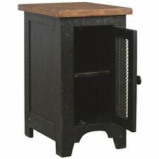 """Ashley Furniture Valebeck 14"""""""" Storage End Table in Vintage Black"""