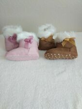Cute Baby Girl Shoes Winter Warm Toddler Soft Sole Snow Boots Prewalker 0-18M