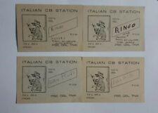 4 BIGLIETTI ITALIAN CB STATION  RINGO E RADIO PLUTO