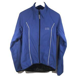GORE Bike Wear Blue Windstopper Full Zip Men's Jacket, Size Large