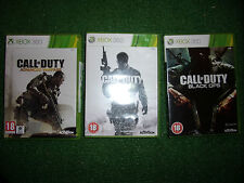 3 X Complet XBOX 360 call of duty Games Advanced & moderne MW3 WARFARE BLACK OPS