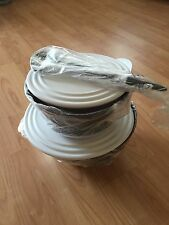 Tupperware Eleganzia Schüssel-Set 4,6l/2,3l+Salatbesteck 3 teilig Neu/OVP