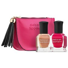 DEBORAH LIPPMANN Sex And Candy Nail Polish Duo 8ml/.27 x 2 & Keepsake Bag New