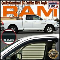 For Ram 1500 Quad Cab 2009-2019 Side Window Door Deflector Vent Shade Sun Visors