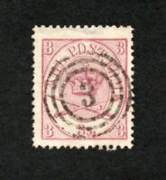 Denmark - Sc# 12 Used / VF       -       Lot 1120015