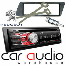 Peugeot 306 JVC CD MP3 AUX In RED Display Car Stereo Radio Player & Fitting Kit