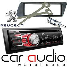 Peugeot 306 Jvc Cd Mp3 Aux En Rojo Pantalla Auto estéreo reproductor de radio y Kit de montaje