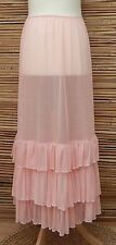 LAGENLOOK MAXI PETTICOAT UNDERSKIRT/DRESS**PINK**MADE IN ITALY WAIST UP TO 44""
