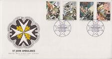UNADDRESSED GB ROYAL MAIL FDC 1987 ST JOHN AMBULANCE STAMP SET HYDE PARK PMK
