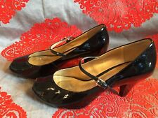 39.5 NEW CLARKS DEEP SOUTH WOMENS NUDE PATENT LEATHER PEEP-TOE SHOES SIZE 6