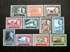 Malaya 1957 Selangor Complete Set - 11v MNH