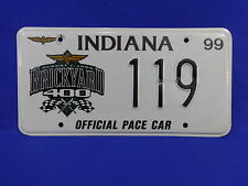 Official 1999 Brickyard 400 Pace Car License Plate Chevrolet Monte Carlo SS