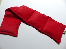 WHEAT BAG HEAT PACK Long sections RED 65 x 14 Neck, Shoulders Lavender Unscented
