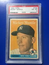 1958 Topps #150 Mickey Mantle PSA VG-EX 4 Awesome Centering!
