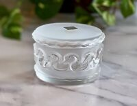 Lalique French Crystal Canards Swans Dresser Box MINT condition