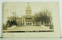 Nebraska State Capitol RPPC c1913 Omaha to New York Real Photo UDB Postcard A2