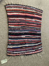 African Hand Woven rugs 100x76 Made From Recycled Fabric By Village Women