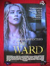 THE WARD * 2010 ORIGINAL MOVIE POSTER SEXY AMBER HEARD JOHN CARPENTER HALLOWEEN