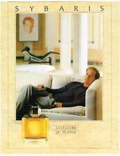 PUBLICITE ADVERTISING  1989  SYBARIS  la culture du plaisir parfum