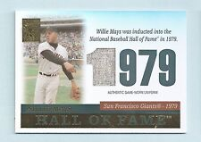 WILLIE MAYS 2004 TOPPS TRIBUTE HALL OF FAME GAME USED JERSEY # TR-WM4