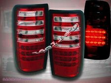 1991-1997 TOYOTA LAND CRUISER FJ82 LED TAIL LIGHTS RED / CLEAR