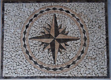 "22""x30"" Marble Travertine Tile Medallion Design Stone 22x30 #18"