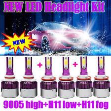 3 SET 9005 H11 9006 Kit Combo Fog Light + Hi & Low Beam LED Headlight Bulb 3000W