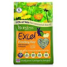 3 x Burgess Excel Rabbit & Small Animal Feeding Hay with Dandelion and Marigold