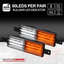 2x Bullbar Front LED Indicator & Park Light Lamp SUBMERSIBLE FM850 9-32V