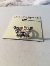 Lucky Brand Silver Tone Butterfly Ring Size 6  154