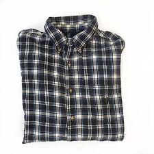 Vintage Ralph Lauren Chaps Mens XL Flannel Blue Plaid Long Sleeve Button Down Sh