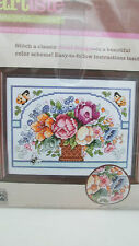 "Zweigart 4.375"" x 6.375"" Counted Cross Stitch Kit - Vase of flowers"