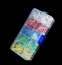 375pcs 3mm 5mm LED Light-emitting Diode Beads Resistance Lights Kits Bulb Lamp S