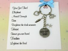 You Got This Keyring Bag charm Keychain Friendship Gift Card Handmade Anxiety