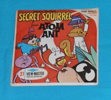 vintage SECRET SQUIRREL AND ATOM ANT VIEW-MASTER REELS packet (missing booklet)