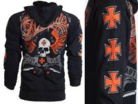 ARCHAIC by AFFLICTION Mens HOODIE Sweat Shirt Jacket REBEL KILLER Biker UFC $78