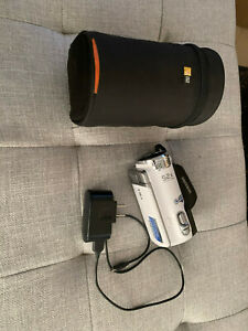 Samsung HMX-F90 720p HD 52X Optical Zoom Camcorder w/ case -- Used