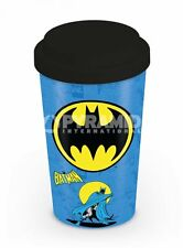 TRAVEL MUG BATMAN CLASSIC THE BAT BLUE MOTTO BRAND NEW TEA OR COFFEE DRINKS